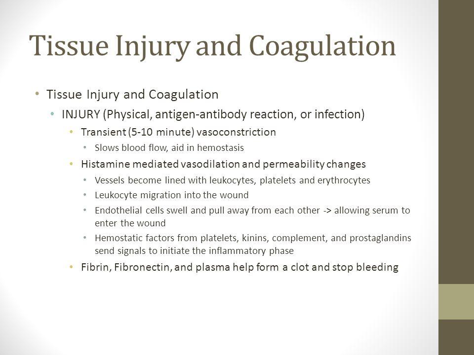 Tissue Injury and Coagulation