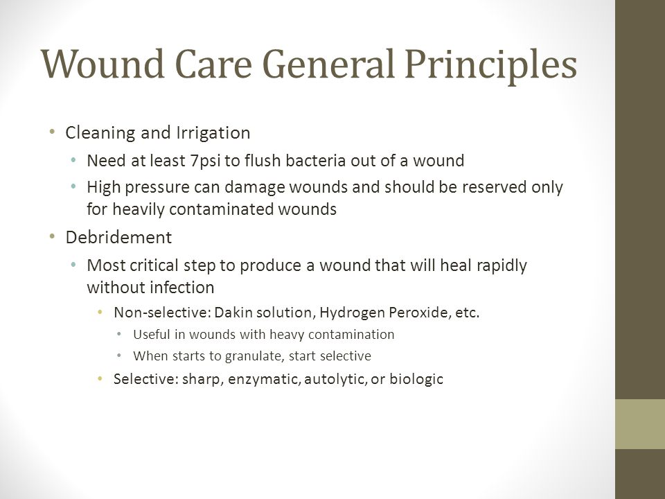 Wound Care General Principles
