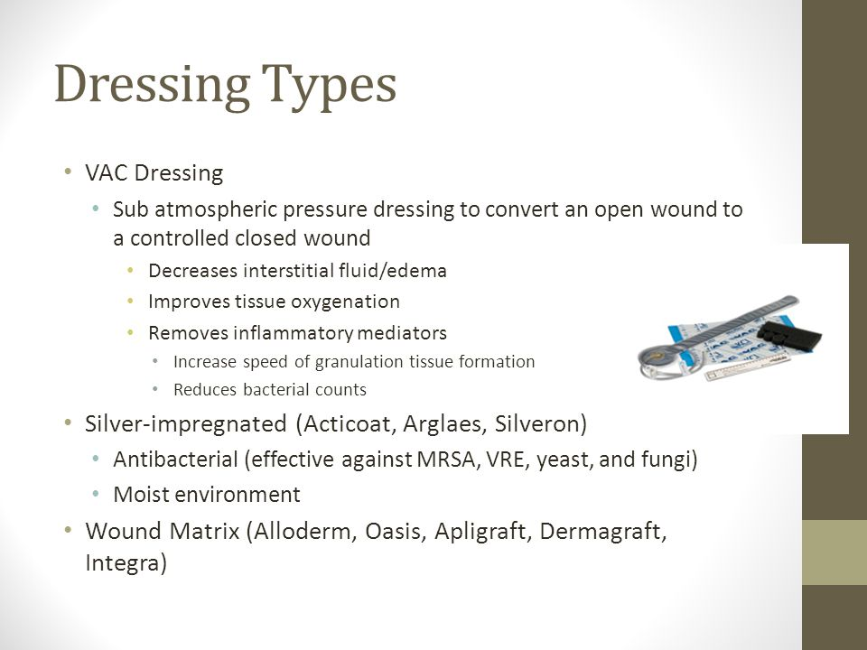 Dressing Types VAC Dressing