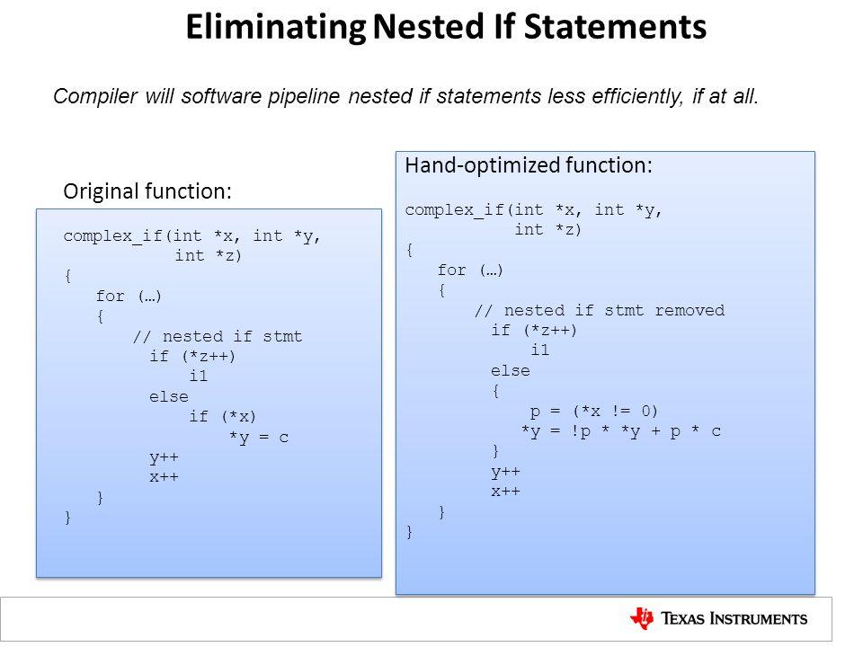 Eliminating Nested If Statements