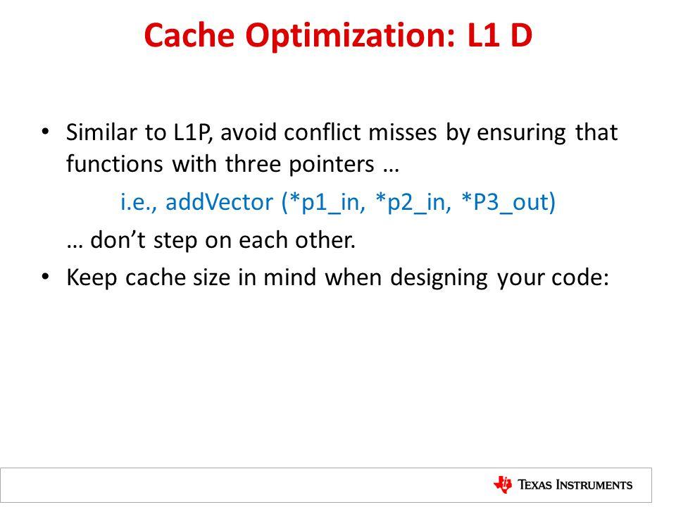 Cache Optimization: L1 D