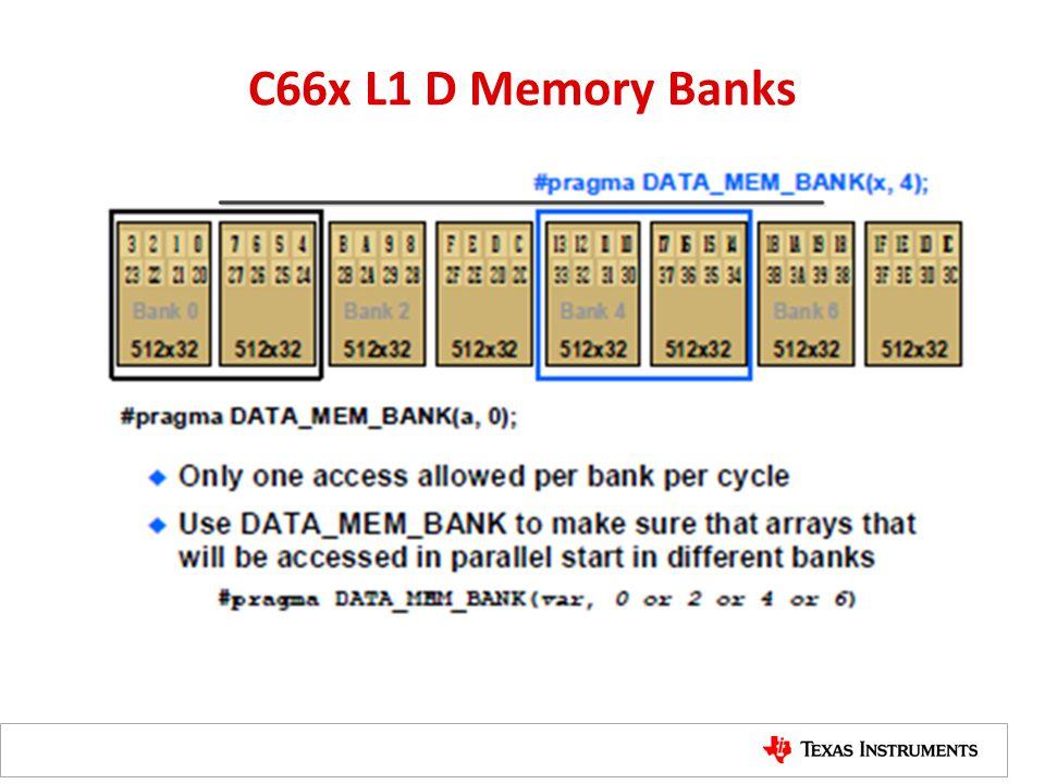 C66x L1 D Memory Banks