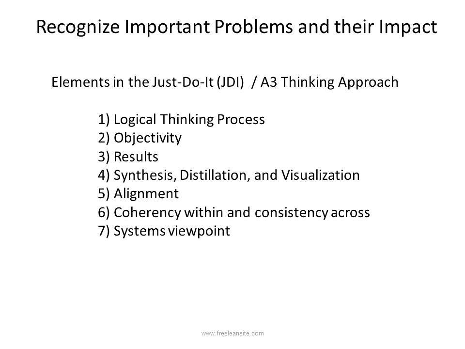 Recognize Important Problems and their Impact