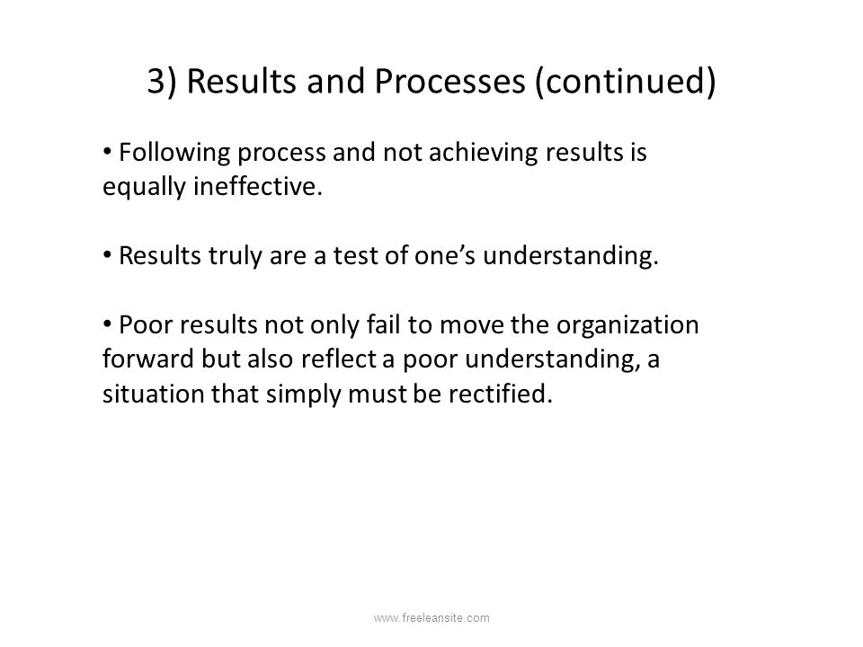 3) Results and Processes (continued)