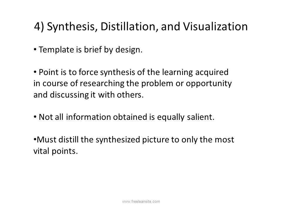 4) Synthesis, Distillation, and Visualization