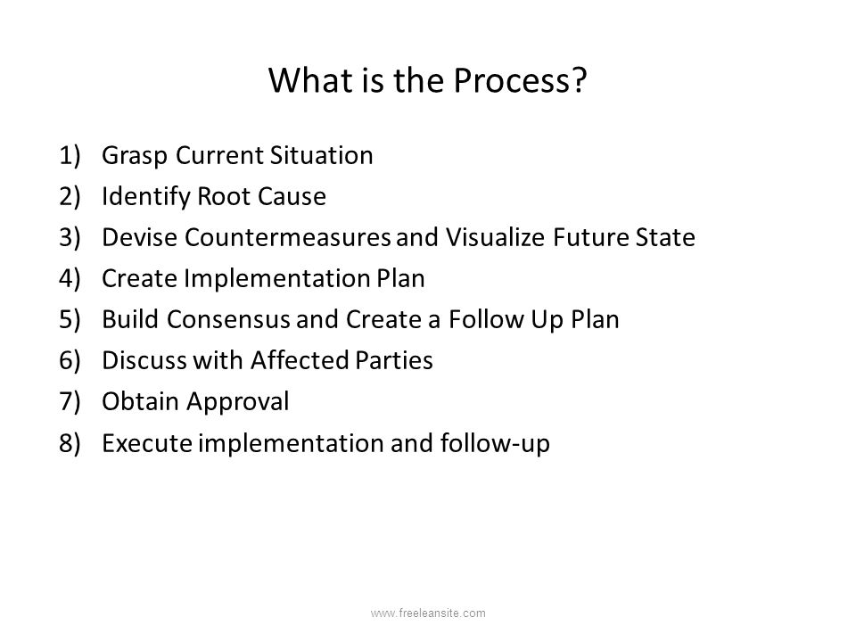 What is the Process Grasp Current Situation Identify Root Cause