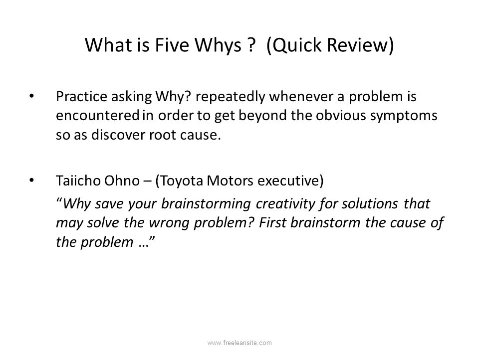 What is Five Whys (Quick Review)