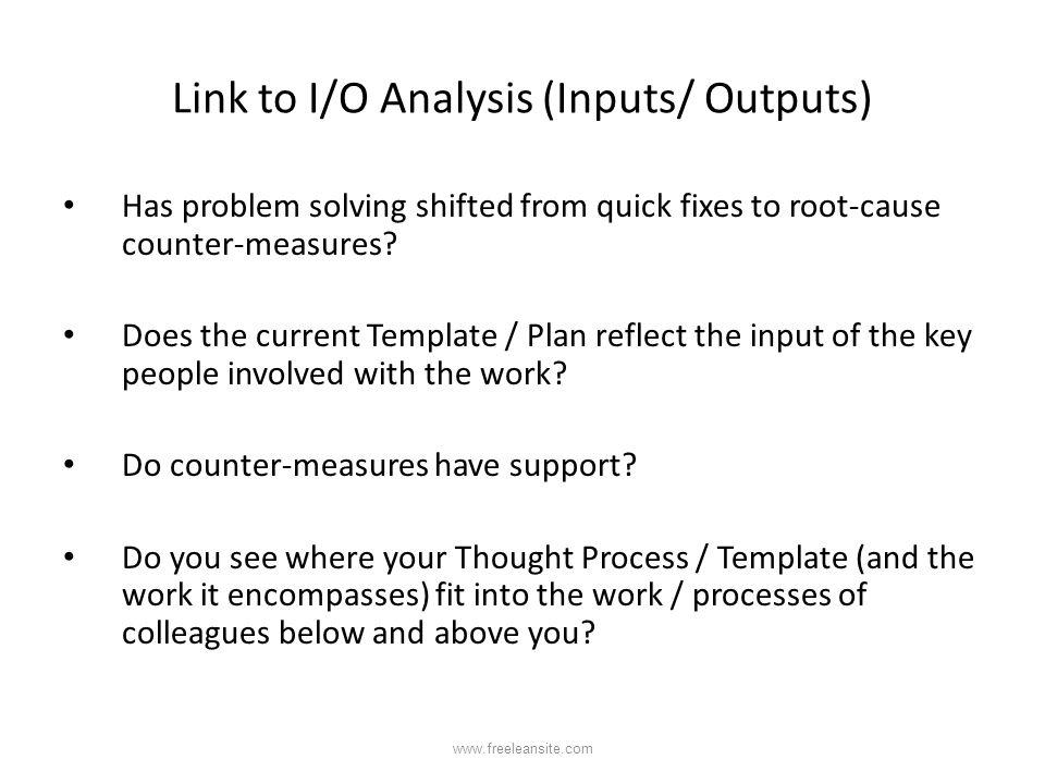 Link to I/O Analysis (Inputs/ Outputs)