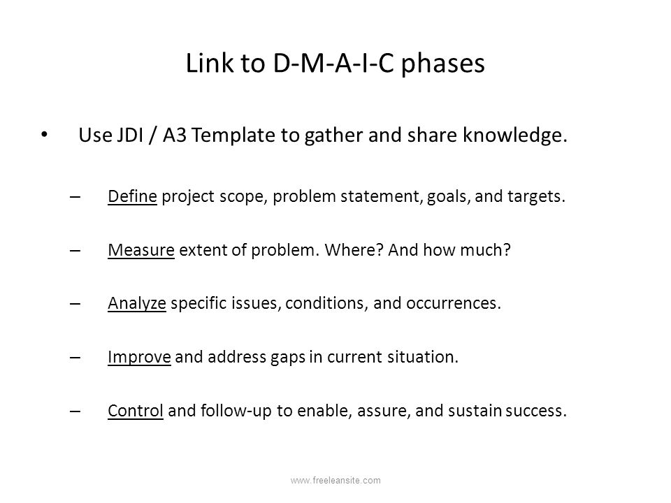 Link to D-M-A-I-C phases