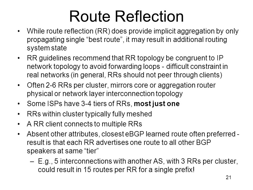 Route Reflection