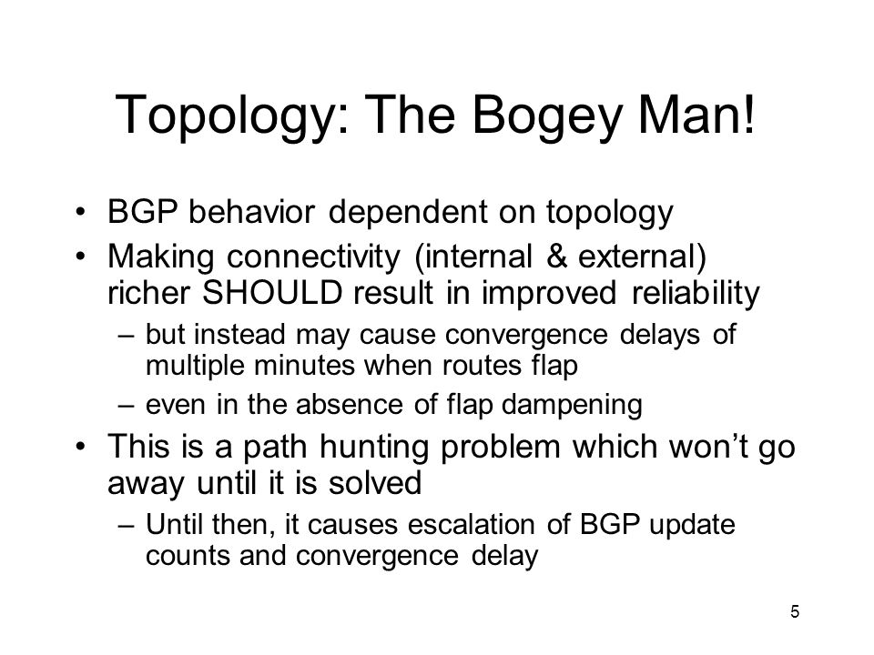 Topology: The Bogey Man!