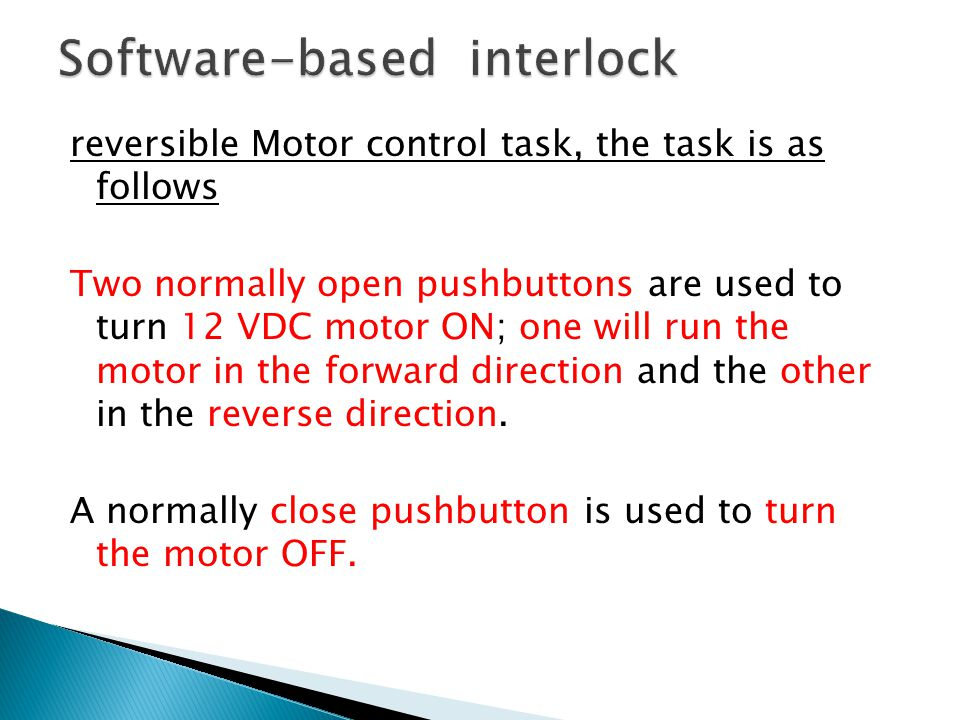 Software-based interlock