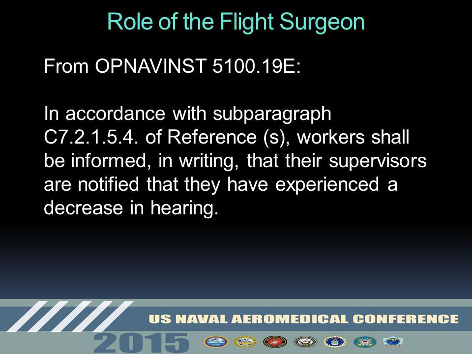 Role of the Flight Surgeon