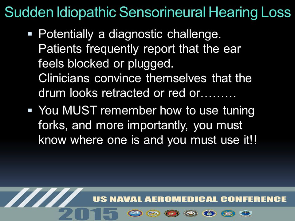 Sudden Idiopathic Sensorineural Hearing Loss