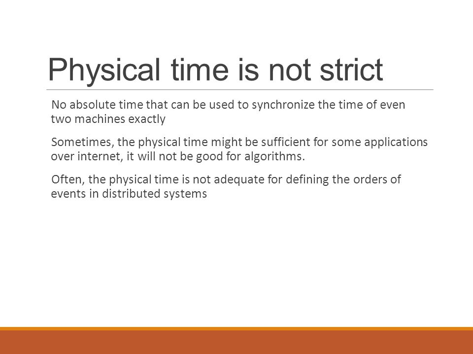 Physical time is not strict