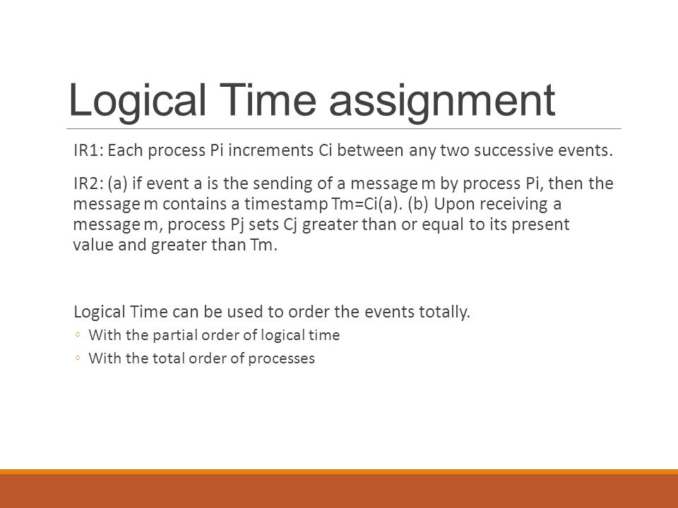 Logical Time assignment