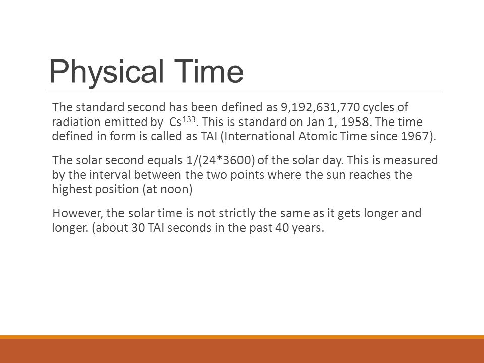 Physical Time