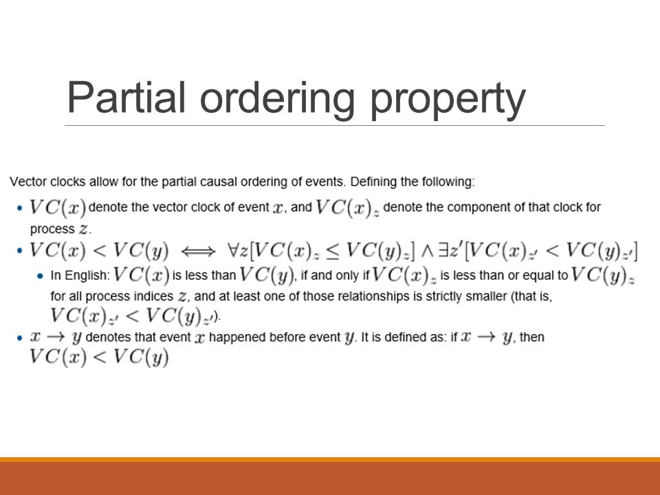 Partial ordering property