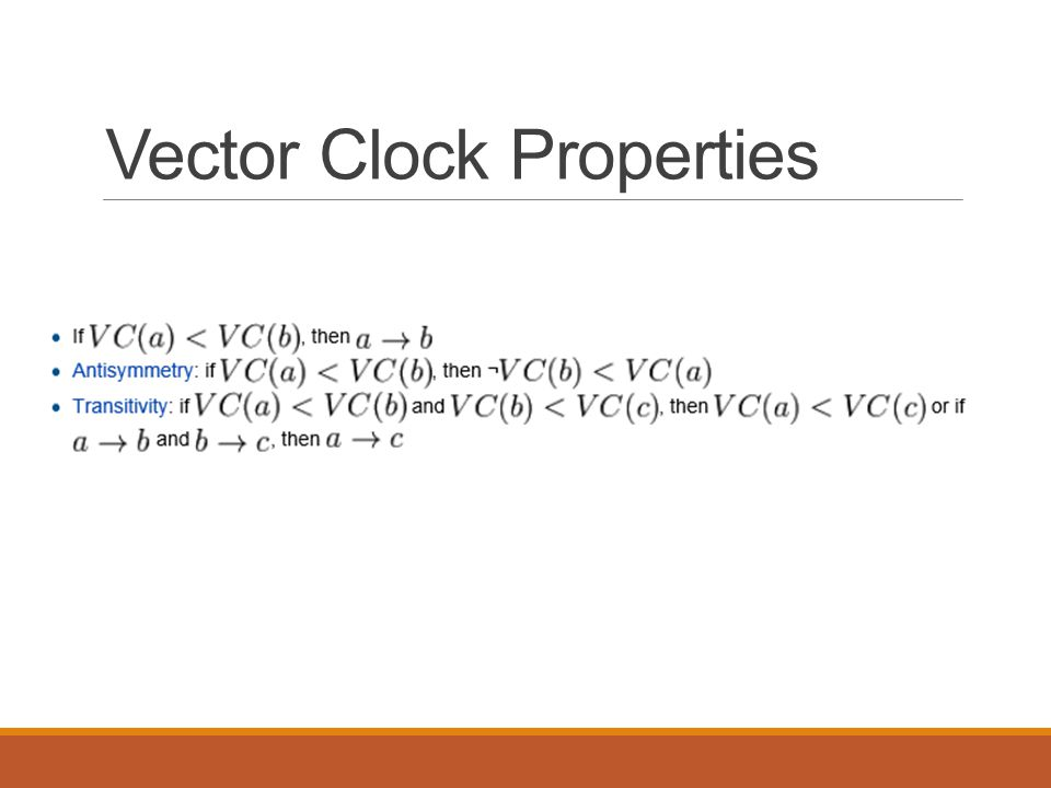 Vector Clock Properties