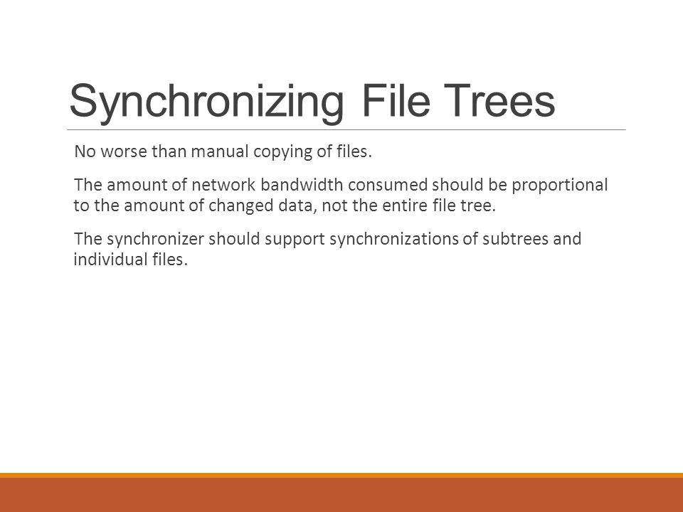 Synchronizing File Trees