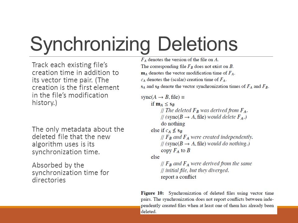 Synchronizing Deletions