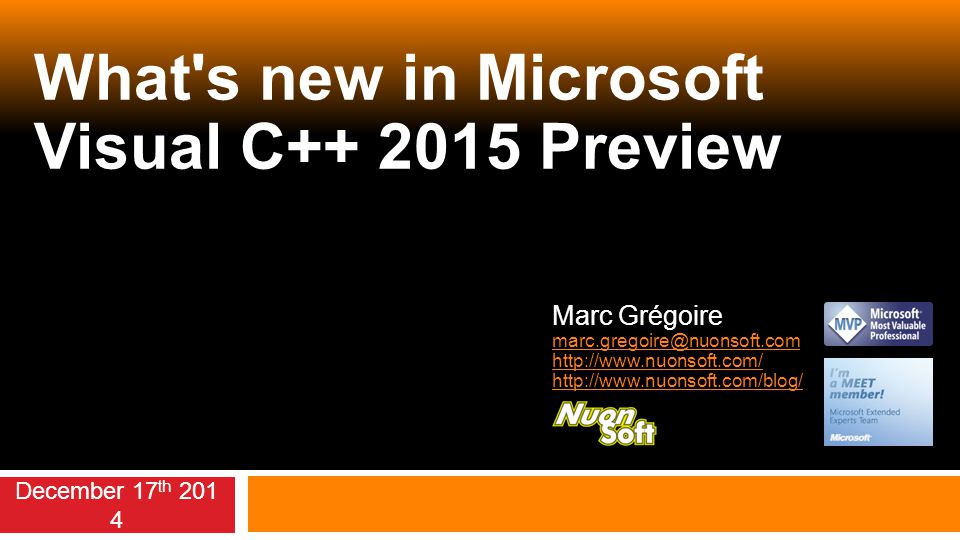 What s new in Microsoft Visual C++ 2015 Preview