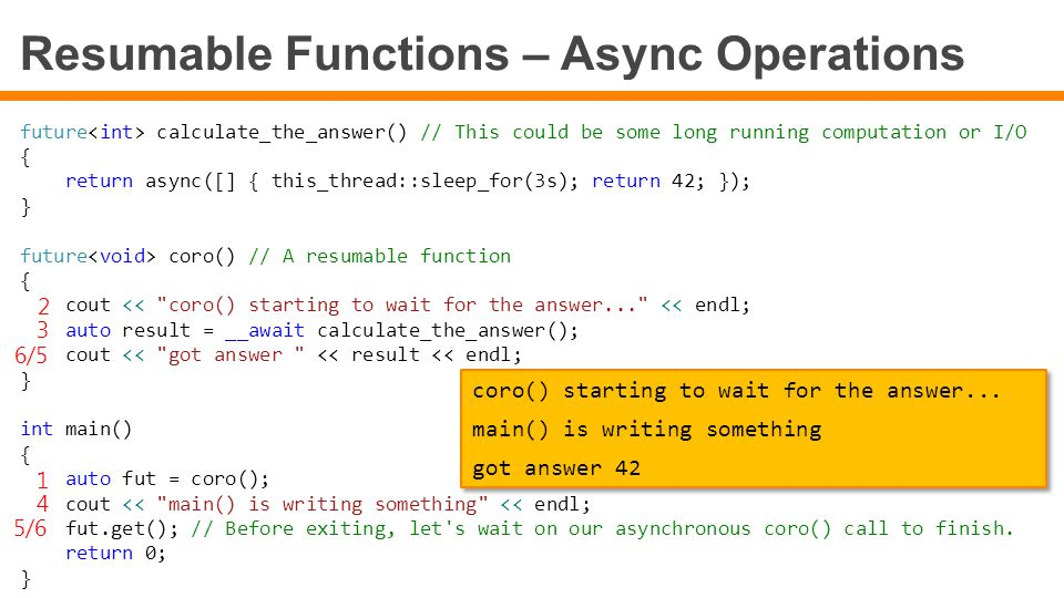 Resumable Functions – Async Operations