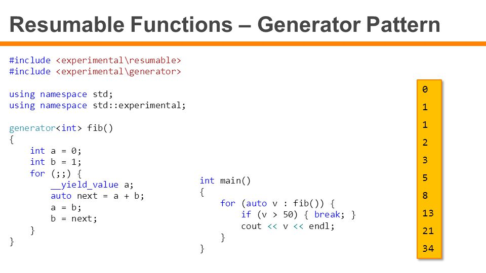 Resumable Functions – Generator Pattern