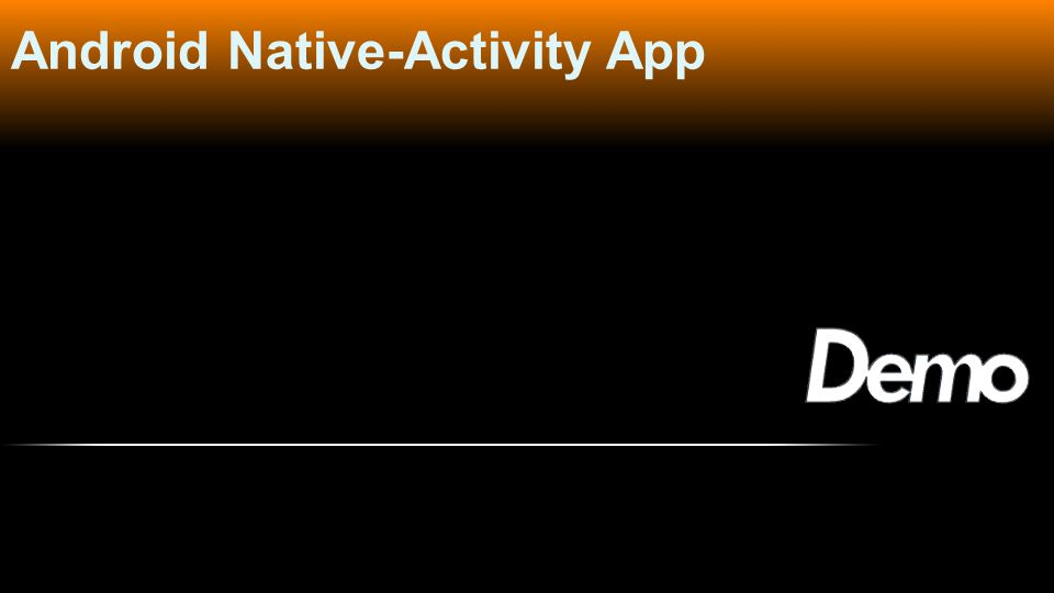Android Native-Activity App