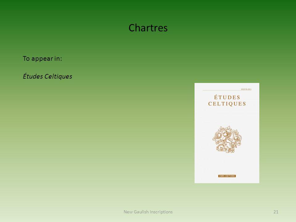 To appear in: Études Celtiques