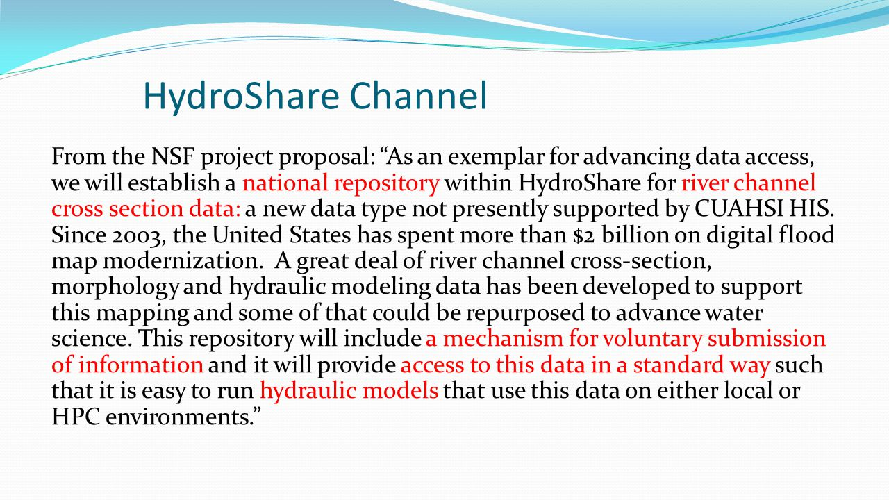 HydroShare Channel