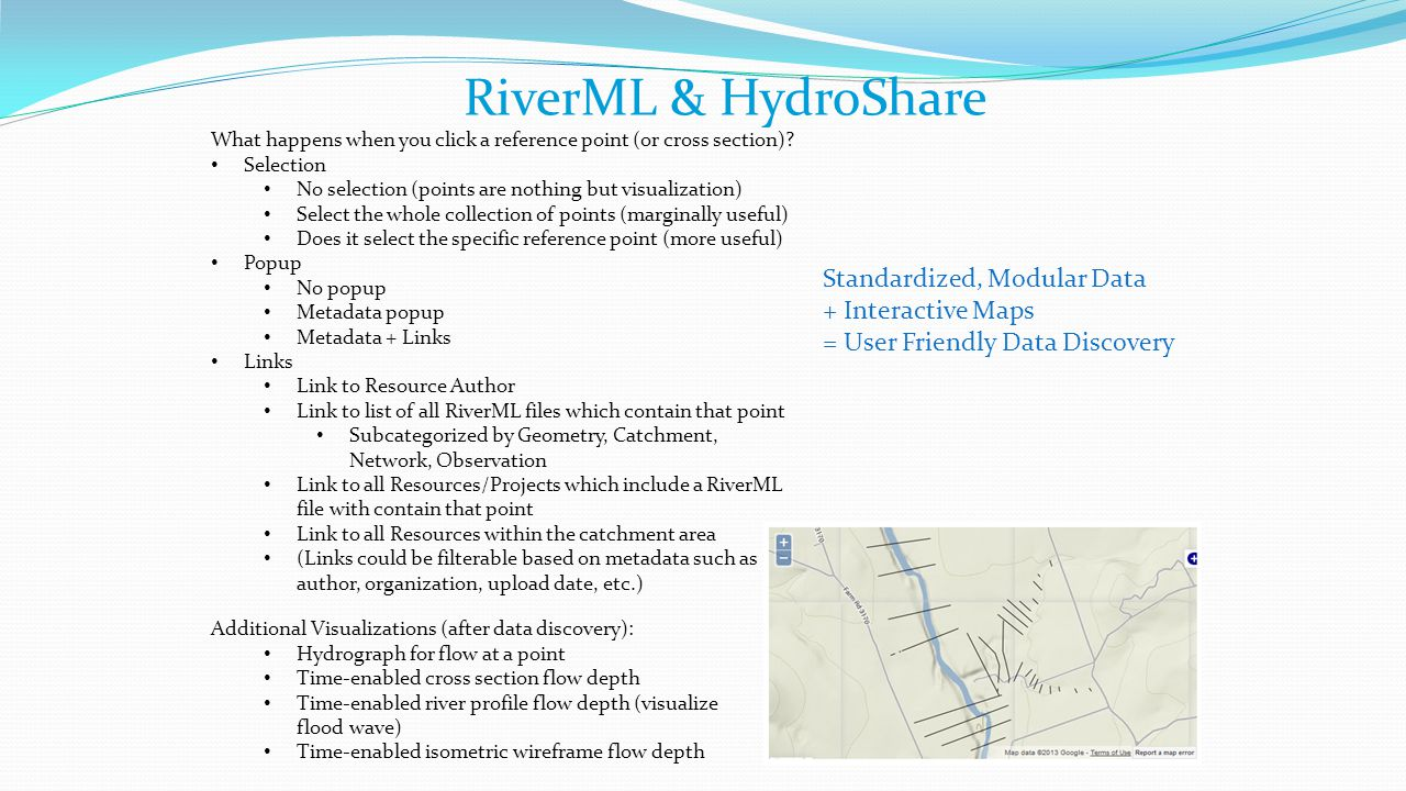 RiverML & HydroShare Standardized, Modular Data + Interactive Maps