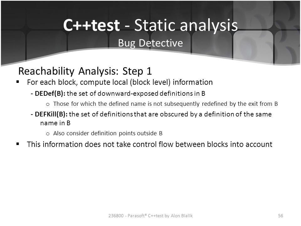 Reachability Analysis: Step 1
