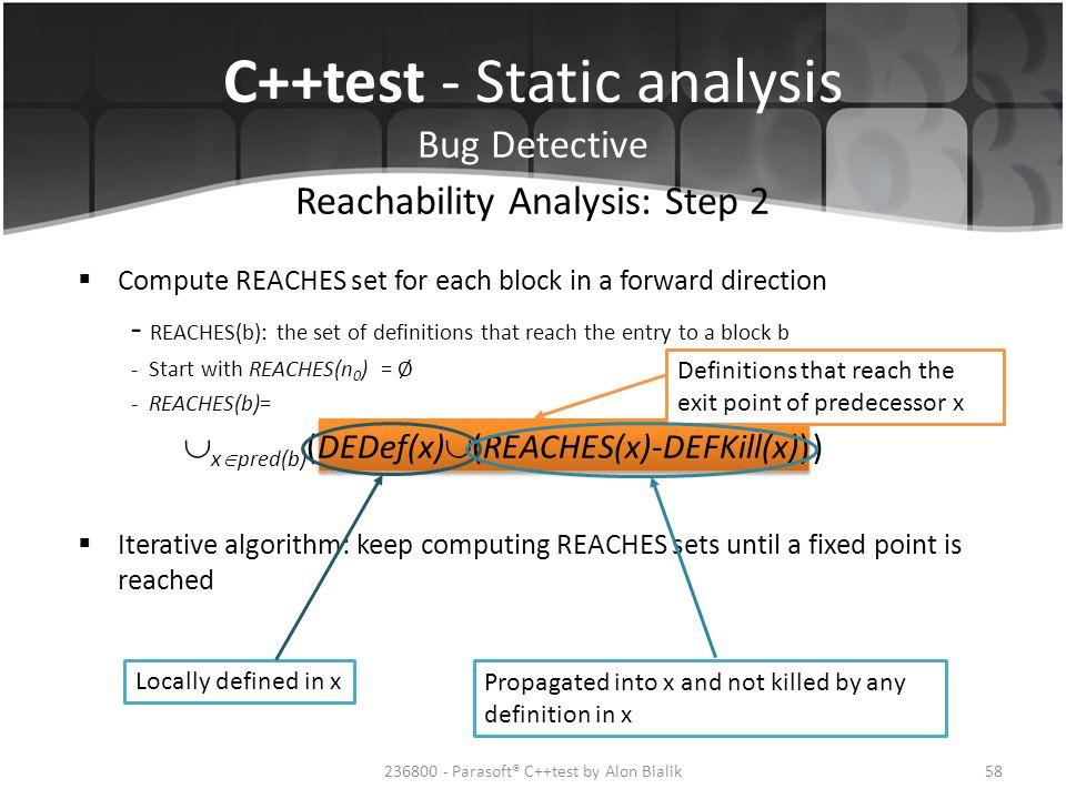 Reachability Analysis: Step 2