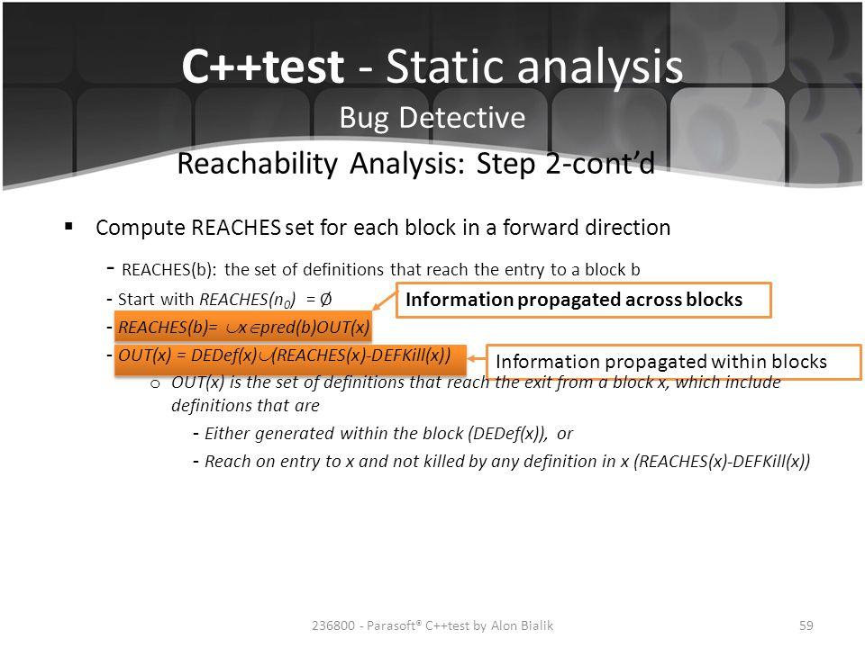 Reachability Analysis: Step 2-cont'd