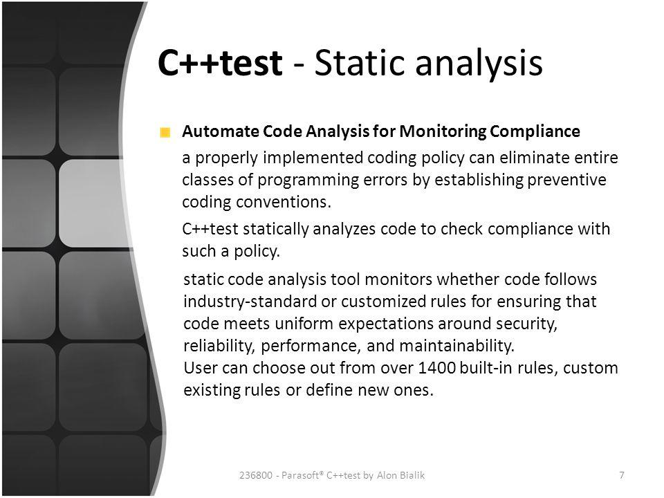 C++test - Static analysis