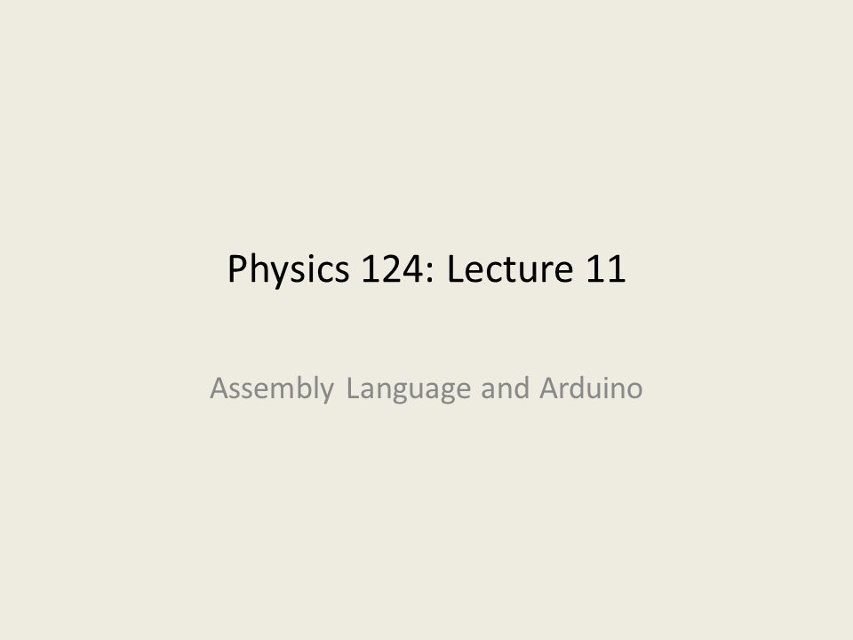 Assembly Language and Arduino