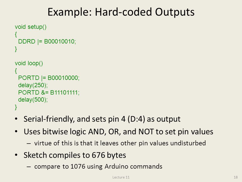 Example: Hard-coded Outputs