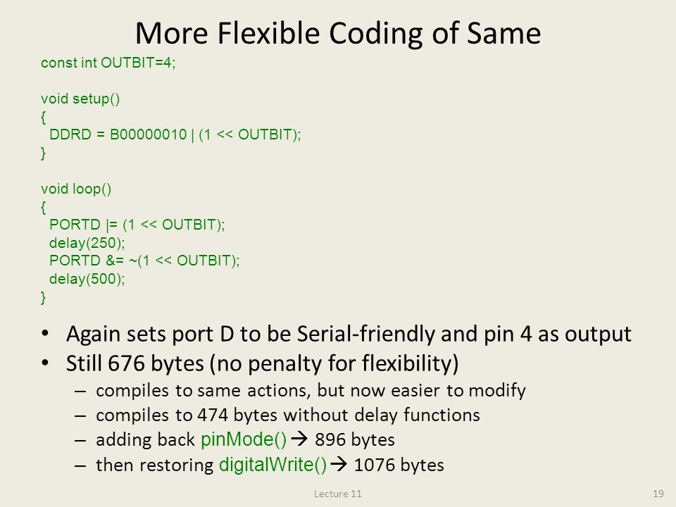 More Flexible Coding of Same