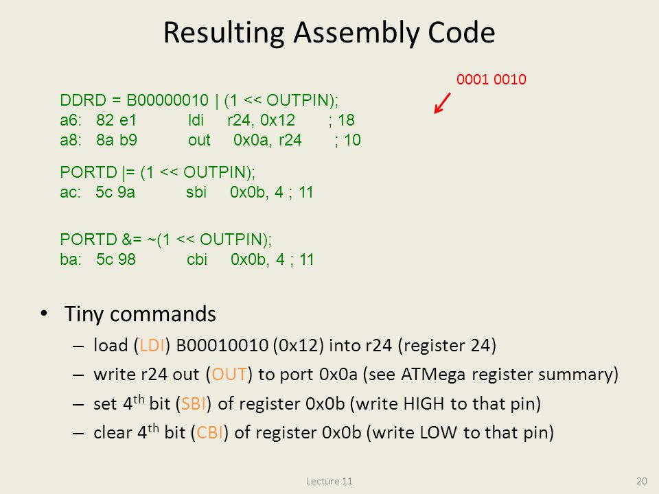 Resulting Assembly Code