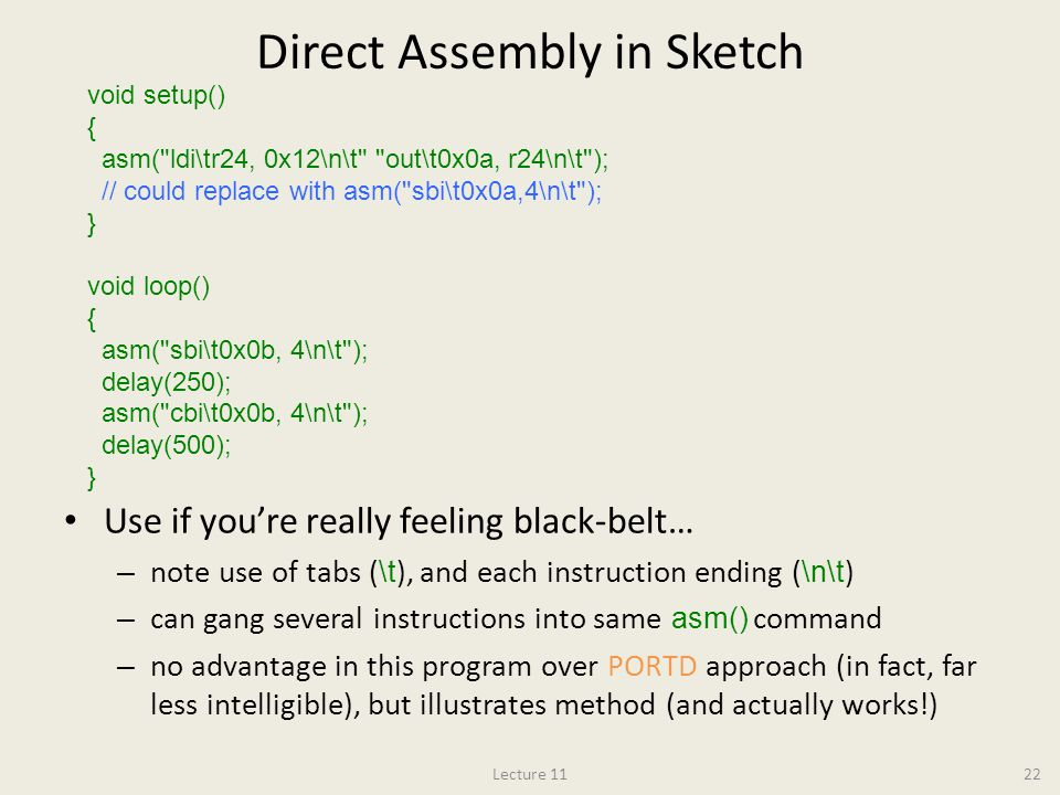 Direct Assembly in Sketch