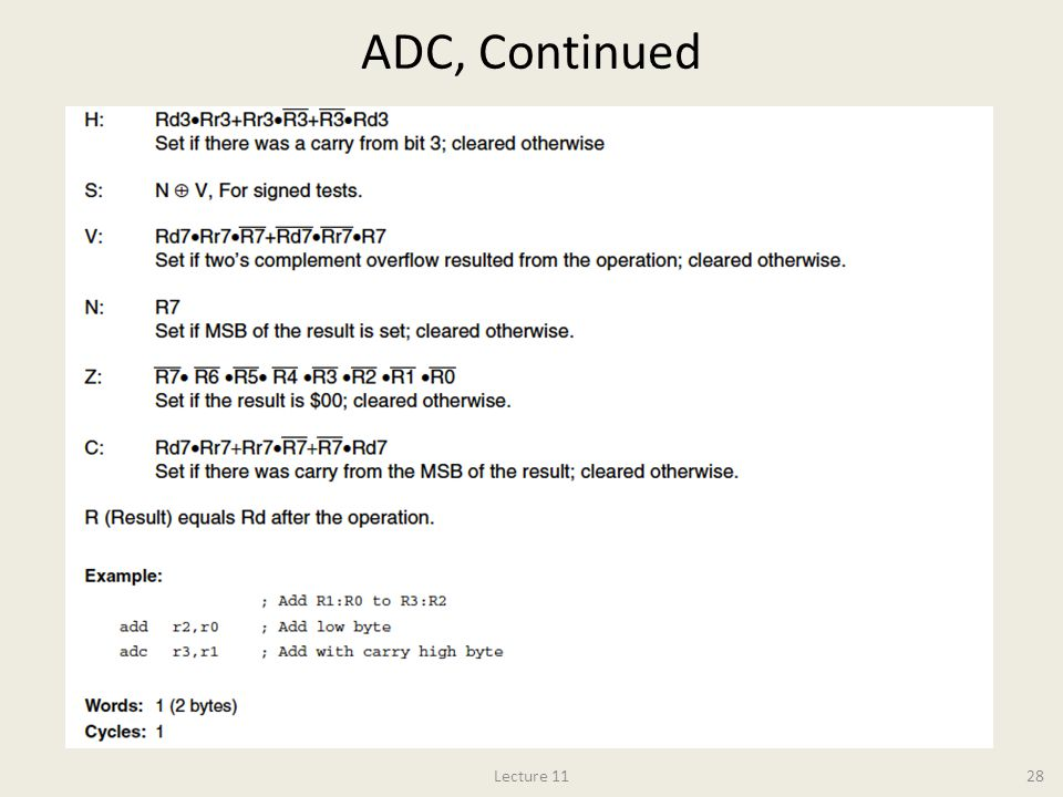 ADC, Continued Lecture 11