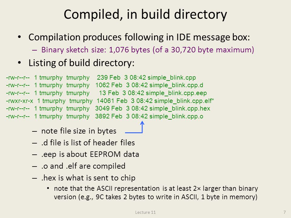 Compiled, in build directory