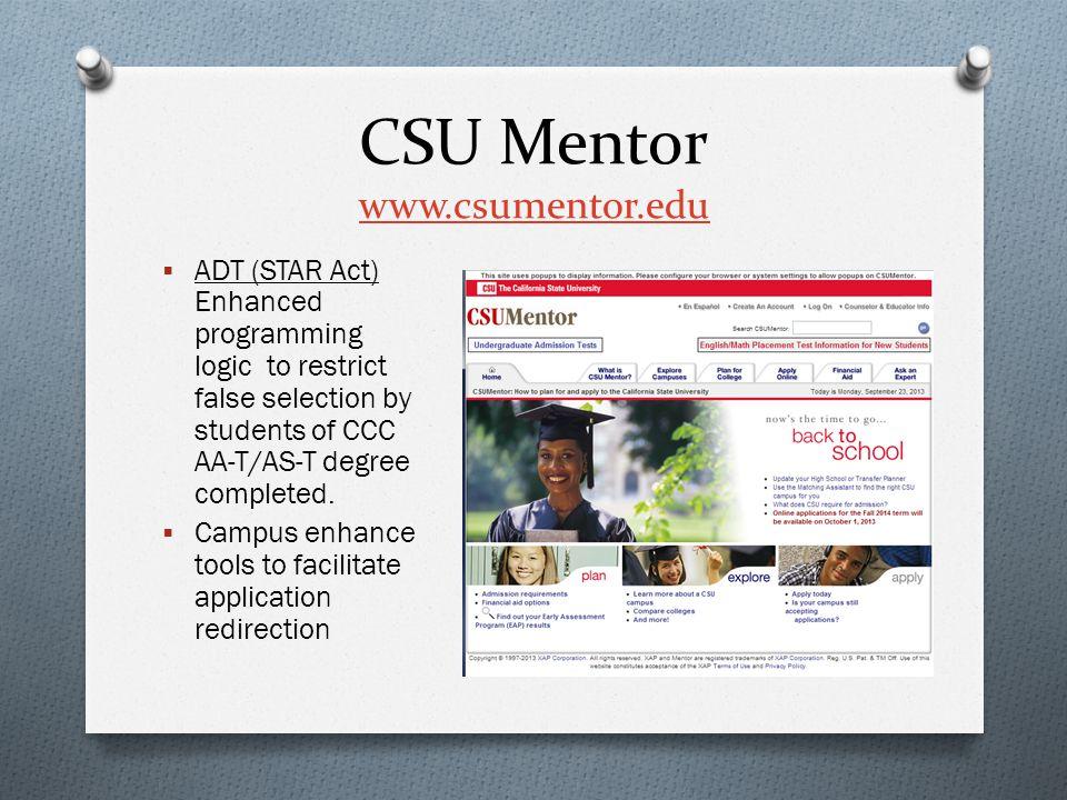 CSU Mentor www.csumentor.edu
