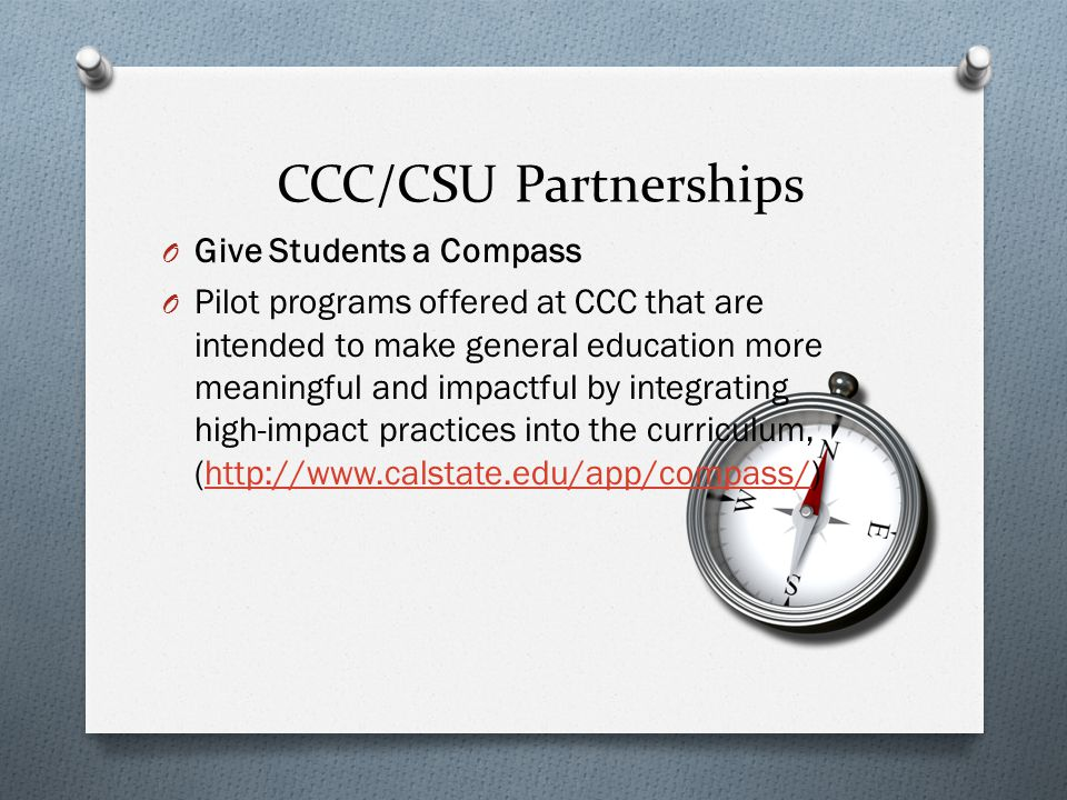 CCC/CSU Partnerships Give Students a Compass