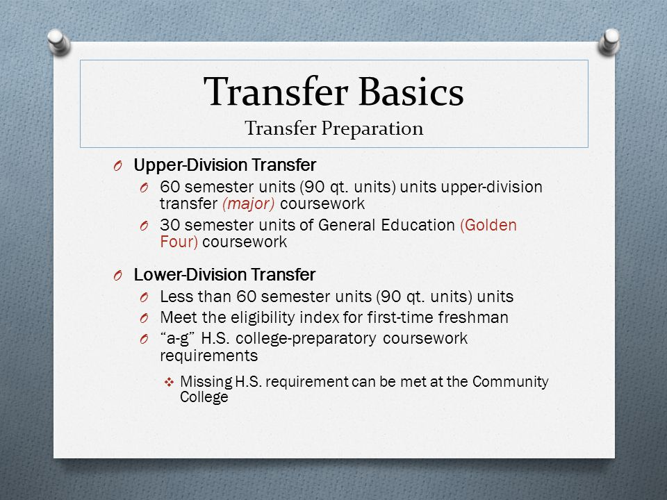 Transfer Basics Transfer Preparation