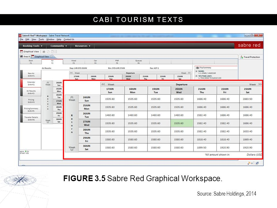 FIGURE 3.5 Sabre Red Graphical Workspace.