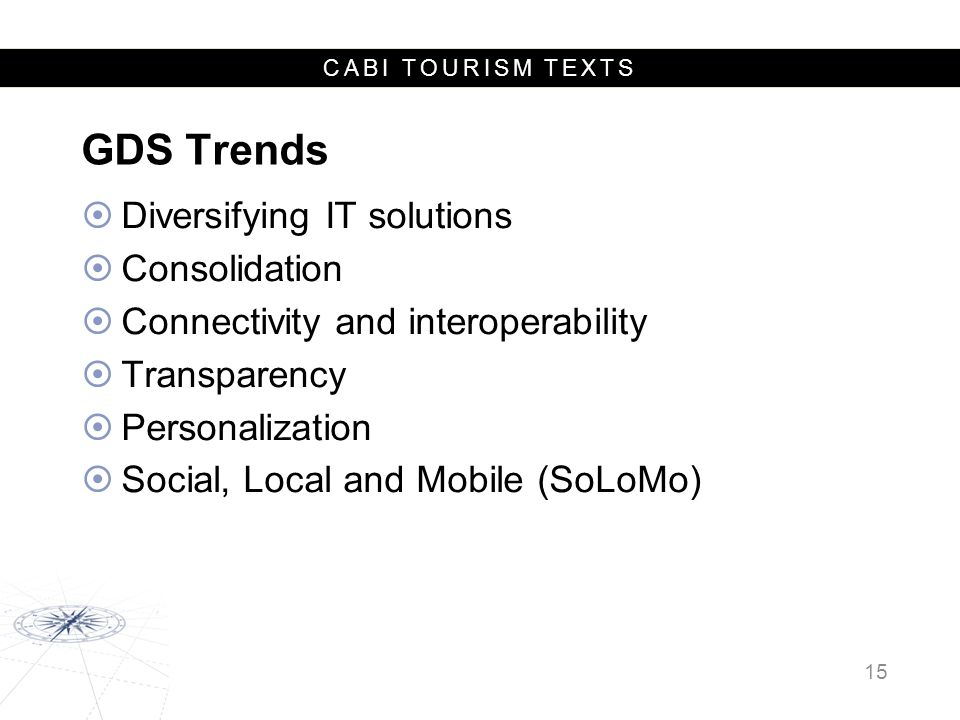 GDS Trends Diversifying IT solutions Consolidation