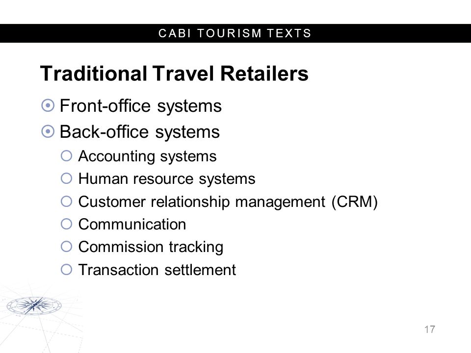 Traditional Travel Retailers