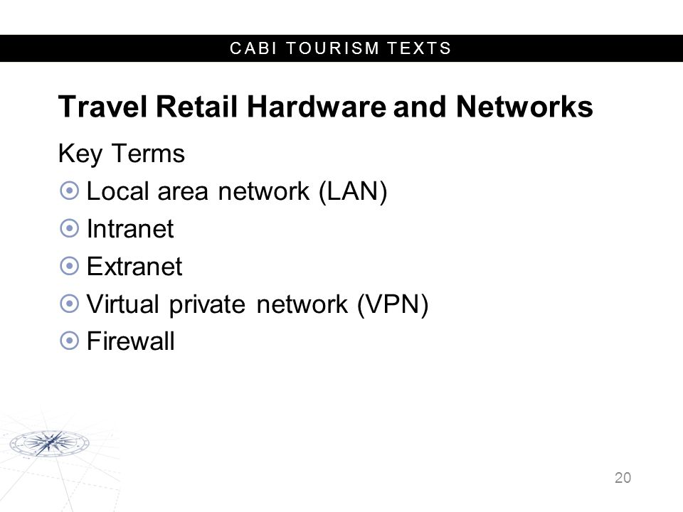 Travel Retail Hardware and Networks